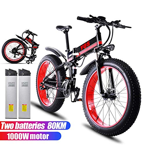 Qnlly-26-Inch-1000W-Electric-Mountain-Bike-Shimano-21-Speed-48V-12A-Lithium-Battery-Aluminum-Electric-Bicycle-Adult-Frame-Assisted-EBike-2-Batteries-80KM-0