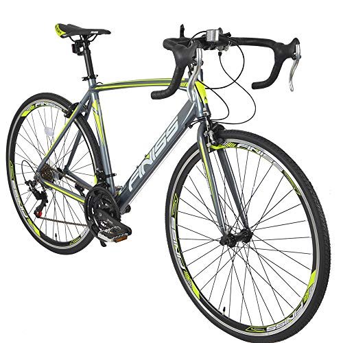Road-Bike-for-Men-and-Women-21-Speed-Road-Bicycle-Aluminum-700C-Racing-Bicycle-Green-21-Speed-0