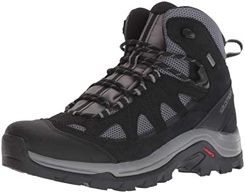 Salomon-Mens-Authentic-Leather-GORE-TEX-Backpacking-Boots-MagnetBlackQuiet-Shade-10-D-US-0
