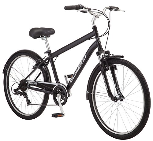 Schwinn-Suburban-Comfort-Hybrid-Bike-Featuring-Step-Over-Steel-Frame-and-7-Speed-Drivetrain-with-26-Inch-Wheels-Medium18-Inch-Frame-BlackWhite-0