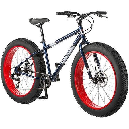 26-Rigid-Steel-Bicycle-Frame-All-Terrain-Fat-Tire-Mountain-Bike-Navy-BlueRed-0