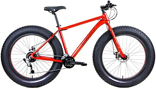Aluminum-Fat-Bike-Gravity-Bullseye-Monster-Five-with-Powerful-Disc-Brakes-Fat-Tire-Bicycle-26-x-49-Matt-Black-20-fits-Most-61-to-63-0-0