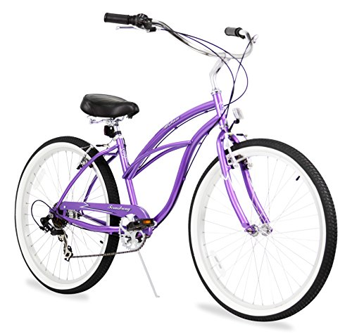 Firmstrong-Urban-Lady-Seven-Speed-Beach-Cruiser-Bicycle-26-Inch-Purple-0