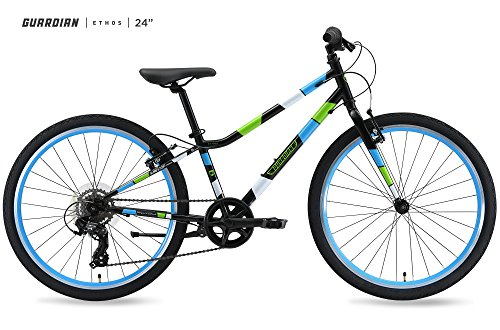 Guardian-Bike-Company-Ethos-Safer-Patented-SureStop-Brake-System-24-Kids-Bike-BlackBlueGreen-0