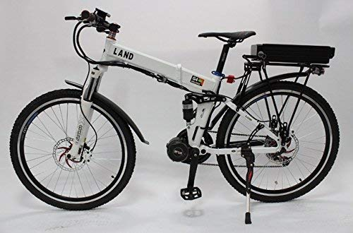 HYLH-48V-750W-Bafang8Fun-Mid-Drive-White-Foldable-Frame-Electric-Bicycle-with-Ebike-48V-20Ah-Lithium-Rear-Carrier-Battery-0