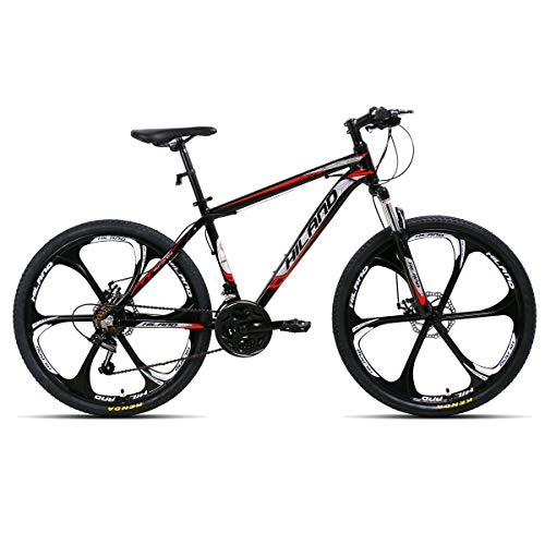 Hiland-26-Inch-Mountain-Bike-6-Spokes-Wheel-Aluminum-MTB-Bicycle-with-21-Speeds-Disc-Brake-Suspension-Fork-Urban-Commuter-City-Bicycle-Black-0