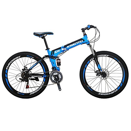 Kingttu-KTG6-Mountain-Bike-21-Speed-26-Inches-Dual-Suspension-Folding-Mountain-Bike-Blue-0