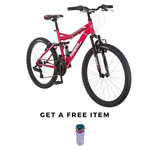 Mongoose-Ledge-21-Mountain-Bike-24-inch-Wheels-21-Speeds-Girls-Frame-Pink-0