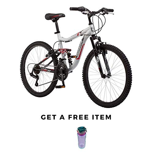 Mongoose-Ledge-Bikes-24-Inch-for-Boys-Mountain-Bike-Silver-Mountain-Style-Silver-wFree-0