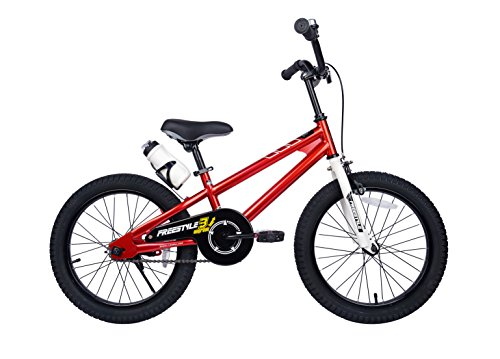 RoyalBaby-Freestyle-Kids-Bike-for-Boys-and-Girls-12-14-16-inch-with-Training-Wheels-16-18-20-inch-with-Kickstand-in-Multiple-Colors-0