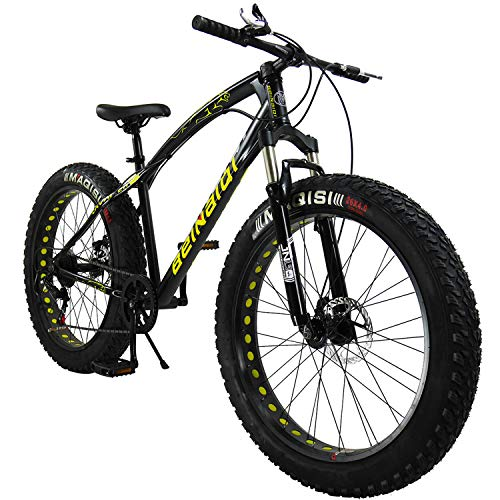 SAIGULA-Fat-Tire-Bicycle-Fat-Mountain-Bike-26-Inch-40-Tire-BTM-7-Speed-for-Adult-FB1-Black-0