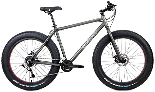 Aluminum-Fat-Bikes-with-Powerful-Disc-Brakes-Gravity-Monster-Mens-Fat-Tire-Bicycle-26-x-4-Stealth-Super-Dark-18in-0