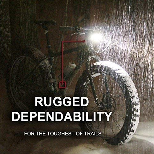 Bright-Eyes-Fully-Waterproof-1600-Lumen-Rechargeable-Mountain-Road-Bike-Headlight-6400mAh-Battery-Now-5-Hours-on-Bright-Beam-Comes-wFree-Diffuser-Lens-and-Free-TAILLIGHT-0-2