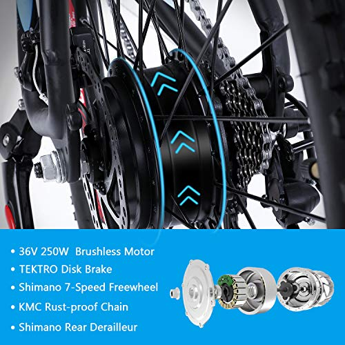 Electric-Bike-Mountain-Ebike-275-Removable-36V125Ah-Battery-Integrated-with-Frame-Shimano-7-Speed-Suspension-Fork-Front-Suspension-Tektro-Dual-Disc-brakes-for-Sport-Cycling-Wrangler-600-0-1