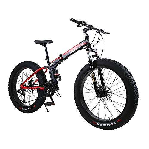 Gunai-Fat-Tire-Mountain-Bike-26-inch-High-Tensile-Steel-Frame21-Speed-with-Dual-Suspension-and-Disc-Brake-0