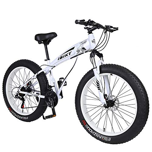 Ibiky-Fat-Tire-Mountain-Bike-26-Inch-Wheels-Multiple-Colors-40-inch-Fat-Tire-Snow-Bike-with-Powerful-Disc-Brakes-White-0-0