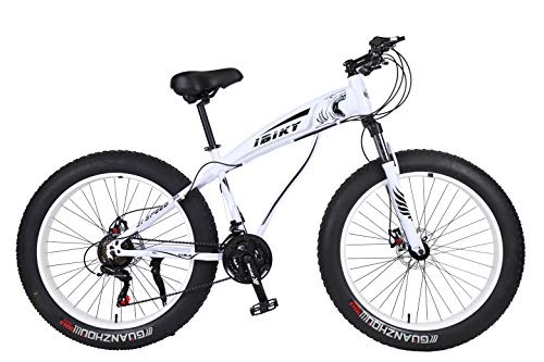 Ibiky-Fat-Tire-Mountain-Bike-26-Inch-Wheels-Multiple-Colors-40-inch-Fat-Tire-Snow-Bike-with-Powerful-Disc-Brakes-White-0-2