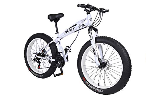Ibiky-Fat-Tire-Mountain-Bike-26-Inch-Wheels-Multiple-Colors-40-inch-Fat-Tire-Snow-Bike-with-Powerful-Disc-Brakes-White-0