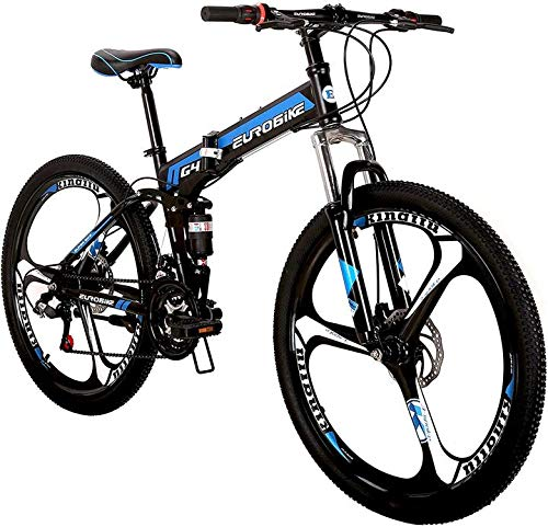 LOOCHO-21-Speed-Foldable-Mountain-Bike-26-Inches-3-Spoke-Wheel-Dual-Suspension-Dual-Disc-Brake-MTB-Tire-Bicycle-0