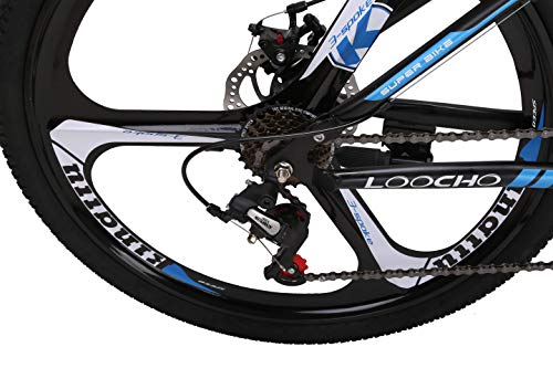 LOOCHO-21-Speed-Foldable-Mountain-Bike-26-Inches-3-Spoke-Wheel-Dual-Suspension-Dual-Disc-Brake-MTB-Tire-Bicycle-Blue-0-2