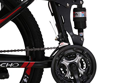 LOOCHO-21-Speed-Foldable-Mountain-Bike-26-Inches-3-Spoke-Wheel-Dual-Suspension-Dual-Disc-Brake-MTB-Tire-Bicycle-red-0-3