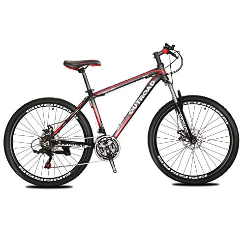 Max4out-Mountain-Bike-21-Speed-26-inch-Shining-SYS-Double-Disc-Brake-Suspension-Fork-Rear-Suspension-Anti-Slip-Bikes-Red-0