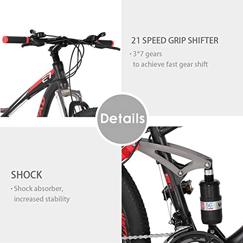 Max4out-Mountain-Bike-275-inch-Wheels-Double-Disc-Brake-Dual-Suspension-Anti-Slip-21-Speed-MTB-Bicycle-Black-red-0-1