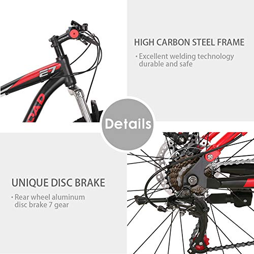 Max4out-Mountain-Bike-275-inch-Wheels-Double-Disc-Brake-Dual-Suspension-Anti-Slip-21-Speed-MTB-Bicycle-Black-red-0-3