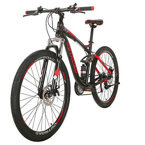 Max4out-Mountain-Bike-275-inch-Wheels-Double-Disc-Brake-Dual-Suspension-Anti-Slip-21-Speed-MTB-Bicycle-Black-red-0