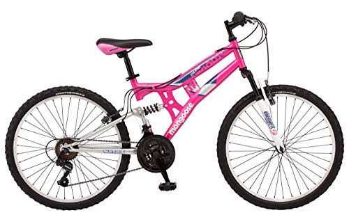 Mongoose-Exlipse-Full-Dual-Suspension-Mountain-Bike-for-Kids-Featuring-15-InchSmall-Steel-Frame-and-21-Speed-Shimano-Drivetrain-with-24-Inch-Wheels-Kickstand-Included-Pink-Renewed-0-0