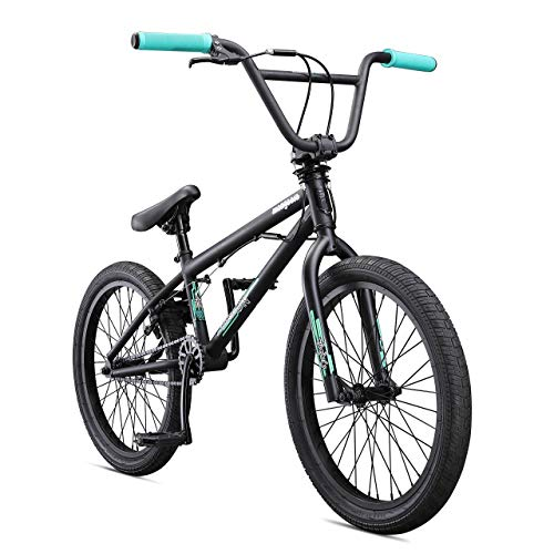 Mongoose-Legion-L10-Freestyle-BMX-Bike-for-Beginner-Level-Riders-Featuring-Hi-Ten-Steel-Frame-and-Micro-Drive-25x9T-BMX-Gearing-with-20-Inch-Wheels-Black-Renewed-0