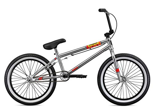 Mongoose-Legion-L100-Freestyle-BMX-Bike-Line-for-Beginner-Level-to-Advanced-Riders-Steel-Frame-20-Inch-Wheels-Silver-0-0