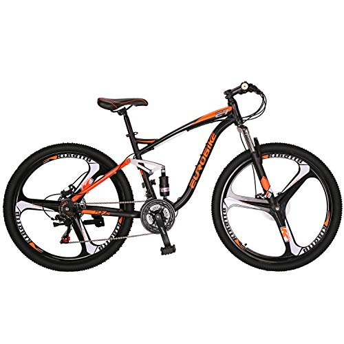 OBK-Eurobike-E7-Full-Suspension-Mountain-Bike-21-Speed-Bicycle-275-Mens-Bikes-Disc-Brakes-MTB-Orange-0