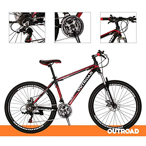 Outroad-Mountain-Bike-21-Speed-26-inch-Road-Bike-Commuter-Bicycle-Black-0-1