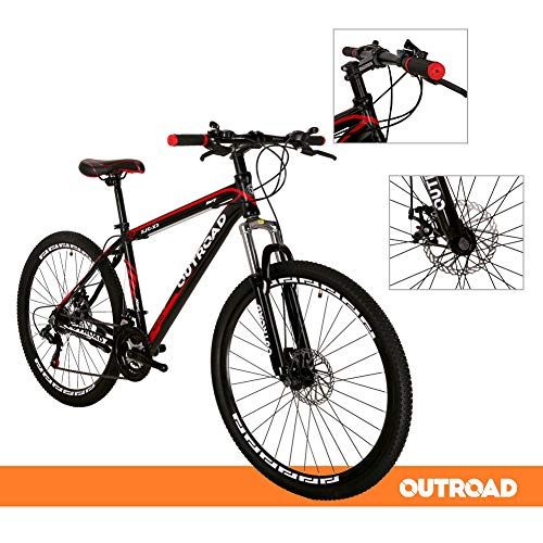 Outroad-Mountain-Bike-21-Speed-26-inch-Road-Bike-Commuter-Bicycle-Black-0-2