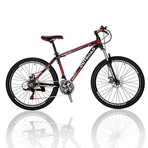 Outroad-Mountain-Bike-21-Speed-26-inch-Road-Bike-Commuter-Bicycle-Black-0
