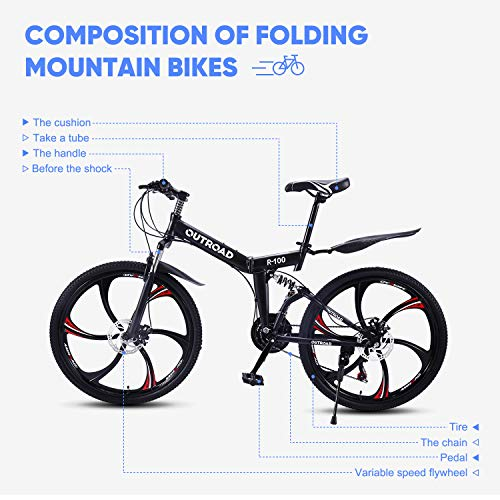 Outroad-Mountain-Bike-6-Spoke-21-Speed-Double-Disc-Brake-Folding-Bike-Black26in-0-1