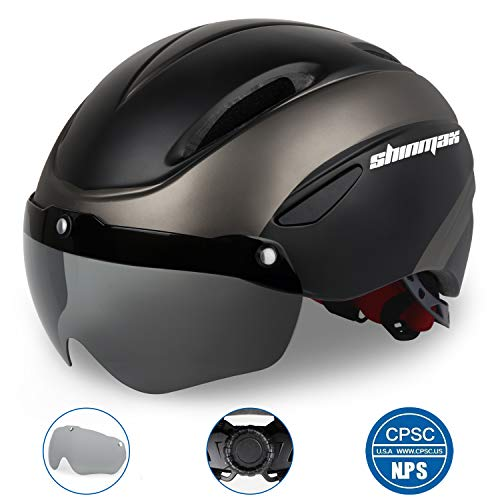 Shinmax-Bike-Helmet-Bicycle-Helmet-MenWomen-CPSC-Safety-Standard-with-Detachable-Magnetic-Goggles-Adjustable-for-Adult-RoadBikingMountain-Cycling-Helmet-BC-001-Bonus-with-Carrying-Bag-0