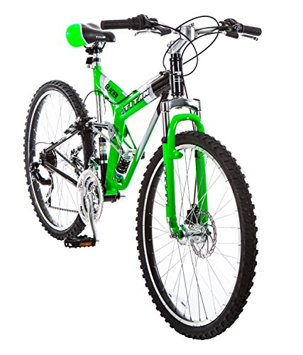 Titan-Glacier-Pro-Alloy-Dual-Suspension-All-Terrain-Mens-Mountain-Bicycle-Neon-Green-19-Frame-0-0