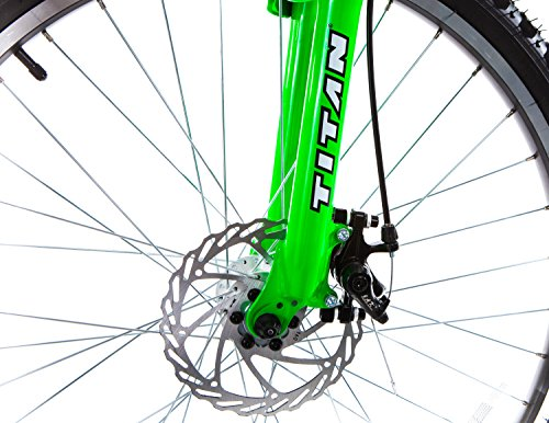 Titan-Glacier-Pro-Alloy-Dual-Suspension-All-Terrain-Mens-Mountain-Bicycle-Neon-Green-19-Frame-0-2
