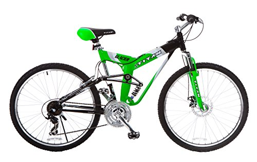 Titan-Glacier-Pro-Alloy-Dual-Suspension-All-Terrain-Mens-Mountain-Bicycle-Neon-Green-19-Frame-0