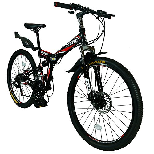 Xspec-26-21-Speed-Folding-Mountain-Bike-for-Adult-Shimano-Black-26-0-0