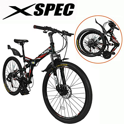 Xspec-26-21-Speed-Folding-Mountain-Bike-for-Adult-Shimano-Black-26-0