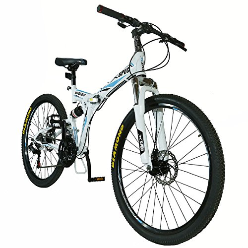 Xspec-26-21-Speed-Folding-Mountain-Bike-for-Adult-Shimano-White-26-0-0